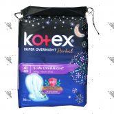 Kotex Super Slim Overnight Wing Heavy Flow 41cm 10s Herbal