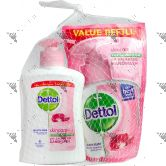Dettol Hand Soap 200ml Skin Care + Refill 175ml Skin Care