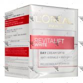L'Oreal RevitaLift White Day Cream SPF18 Jar 50ml