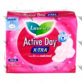 Laurier Active Day X-Tra Maxi Wing 22cm 20s