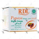 RDL Papaya Extract Night Cream 20g with Vitamin E