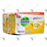 Dettol Anti-Bacterial Bar Soap (105gx4) Fresh