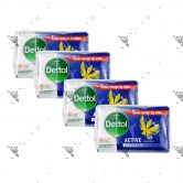 Dettol Anti-Bacterial Bar Soap (100gx4) Active