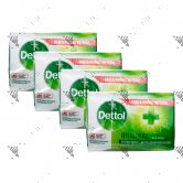 Dettol Anti-Bacterial Bar Soap (100gx4) Original