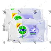 Dettol Antiseptic Wet Wipes 50s Sensitive