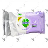 Dettol Antiseptic Wet Wipes 3x10s Sensitive