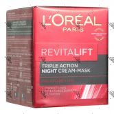 L'Oreal Revitalift Triple Action Night Cream - Mask 50ml
