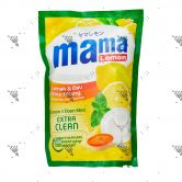 Mama Lemon Dishwashing 780ml Refill Extra Clean Lemon