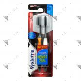Systema Toothbrush Japanese Charcoal Regular Soft 2s