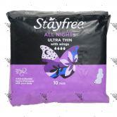 Stayfree Cotton Ultrathin Wings 10s Nite