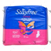 Stayfree Ultra Thin Super Wings 12s