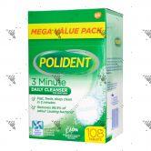 Polident Denture Cleanser 3 Minutes 108s Mega Value Pack