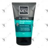 Nano White Men Oil Control Double Action Scrub 100ml