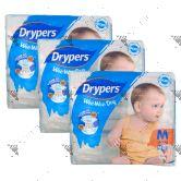 Drypers Wee Wee Dry M74 (1Carton=3pack)